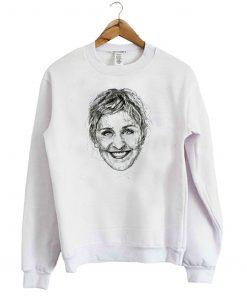 Ellen Degeneres White Sweatshirt