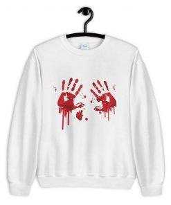 Halloween Bloody Hands Sweatshirt