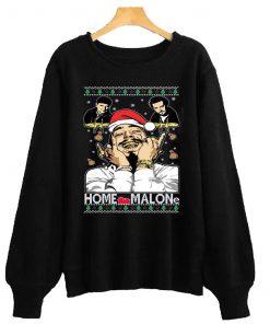 Home Malone Funny Ugly Xmas Sweatshirt