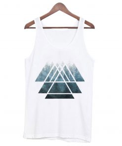 Sacred Geometry Triangles – Misty Forest Tank Top