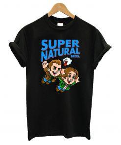 Super Natural Bros Black T-Shirt