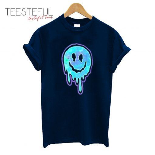 Smiley Face Melt Black Graphic T-Shirt