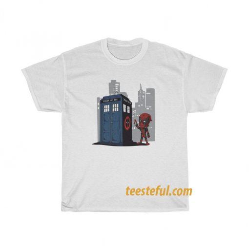 Deadpool Doctor Who T shirt thd