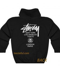 Stussy new york los angels (back )hoodie thd